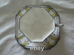 SHELLEY DECO TRIO CUP SAUCER PLATE No 11501 FINE BONE CHINA c1930 & VERY PRETTY