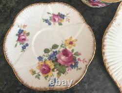 SHELLEY porcelain DAINTY PINK ROSE DRESDEN SPRAYS 11494 CUP SAUCER PLATE TRIO