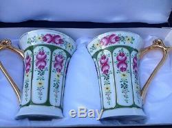 SORELLE HIGHFINE PORCELAIN CHINA GOLD TRIM FLORAL TEA CUP Coffee Mugs Stunning