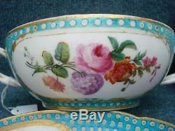 Sevres Larger Porcelain Tasse A Bouillon, Big Size, With Fish Carp As Finial