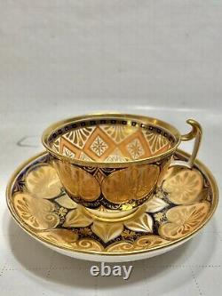 Spode 1823 Hand Painted Tea Cup & Saucer Heavy Gold