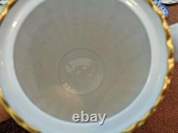 Spode Blue Bone China Demitasse Set Pot, 8 Cups/saucers, Covered Mini Sugar