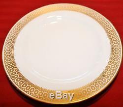 Spode Golden Honeycomb 34 Piece Collection Cups, Saucers, Dessert Plates