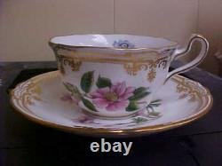 Spode Stafford Flowers England Cup & Saucer 1st Quality NEW MINT