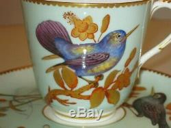 Stunning Rare Antique Royal Worcester Hand Painted Porcelain Cup & Saucer 1875