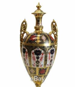 Stunning Royal Crown Derby Porcelain Lidded Urn in Old Imari #1128, c1960