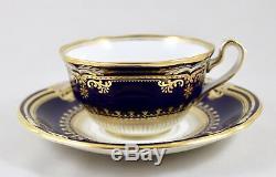 Stunning Spode China England Lancaster Cobalt R8950 Tea Cup & Saucer 1st Mint