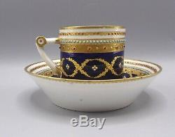 Superb 18th Century Sevres Jewelled Porcelain Cup & Saucer by Le Guay