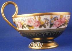 Superb Antique 19thC 1811 Sevres Porcelain Floral Cup & Saucer Porzellan Tasse