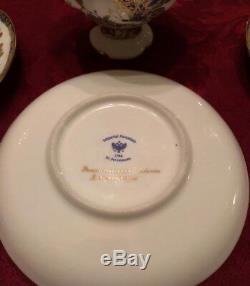 Tea Cup & Saucer, Lomonosov Porcelain, Fantastic butterflies, Gold, IFZ, Russia
