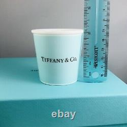 Tiffany & Co Everyday Objects Espresso Paper Cups Porcelain Blue Bone China