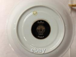 Versace Medusa Red Cream Soup Cup And Saucer / Brand New Porcelain Rosenthal