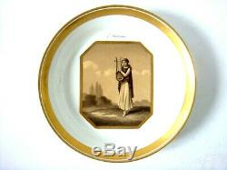 Vienna Porcelain Sorgenthal Period Mythological Painted Cup & Saucer Dated 1804