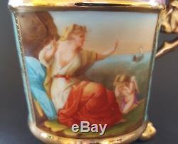 Vienna porcelain Angelica Kauffmann vintage Victorian antique cup & saucer duo A