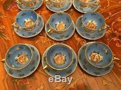 Vintage 12 cups 12 Saucer German Bavaria Porcelain Coffee Set