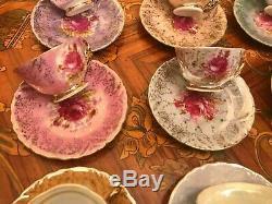 Vintage 12 cups 12 Saucers Japanese Maruei Porcelain Coffee Set