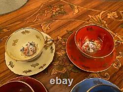 Vintage 6 Cups 6 Saucers German R Bavaria Porcelain Coffee Set