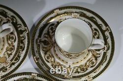 Vintage 60's Royal Worcester WINDSOR Pattern Tea Cup / Coffee Cup + Saucers x6