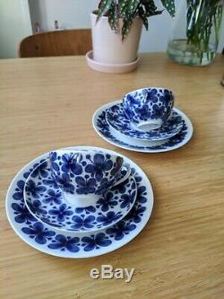 Vintage Pair of Rorstrand MON AMIE Coffee Cups Saucers Plates 6 pcs