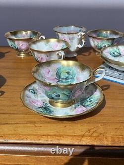 Vintage ROYAL ALBERT Jade Summer Bounty Series, Tea Cup & Saucer RARE