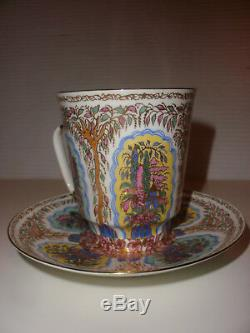 Vintage Russian Porcelain cup saucer Alexey Vorobievsky Lomonosov St Pertersburg