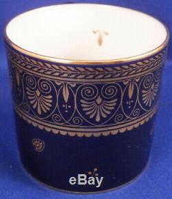 Vintage Sevres Cobalt Blue & Gold Porcelain Cup & Saucer Porzellan Tasse #2