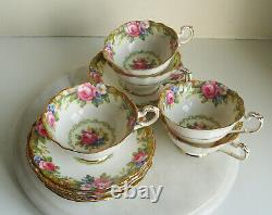 Vintage paragon By App To H. M. The Queen& H. M. Queen Mary 5 x Cup & 6 x Saucers