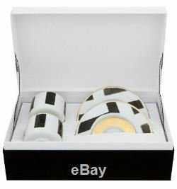 Vista Alegre Christian lacroix Sol y Sombra Coffee Cup and Saucer (set of 2)