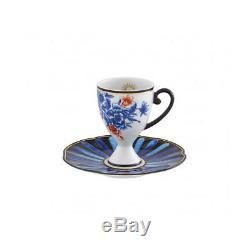 Vista Alegre Porcelain Cannaregio Set of 4 Espresso Cups and Saucers